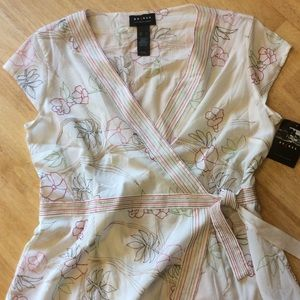 Embroidered Floral Blouse by Axcess